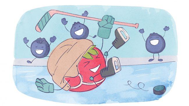 Ruokaniemen koulun jääkiekkokoitos
