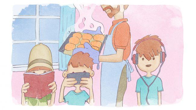 Ruut Ruokatutkailija keskittyy syömiseen