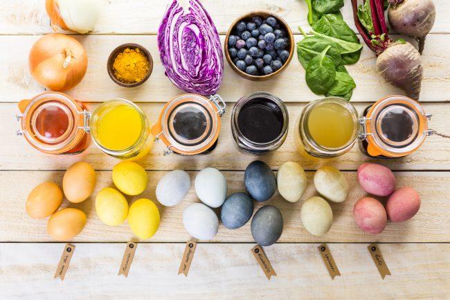 Färga med grönsaker